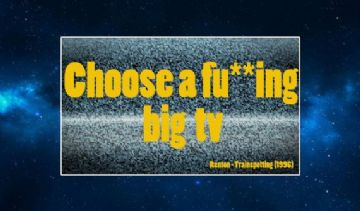 Trainspotting (Quote) Fridge Magnet Choose a Big Fu**ing TV